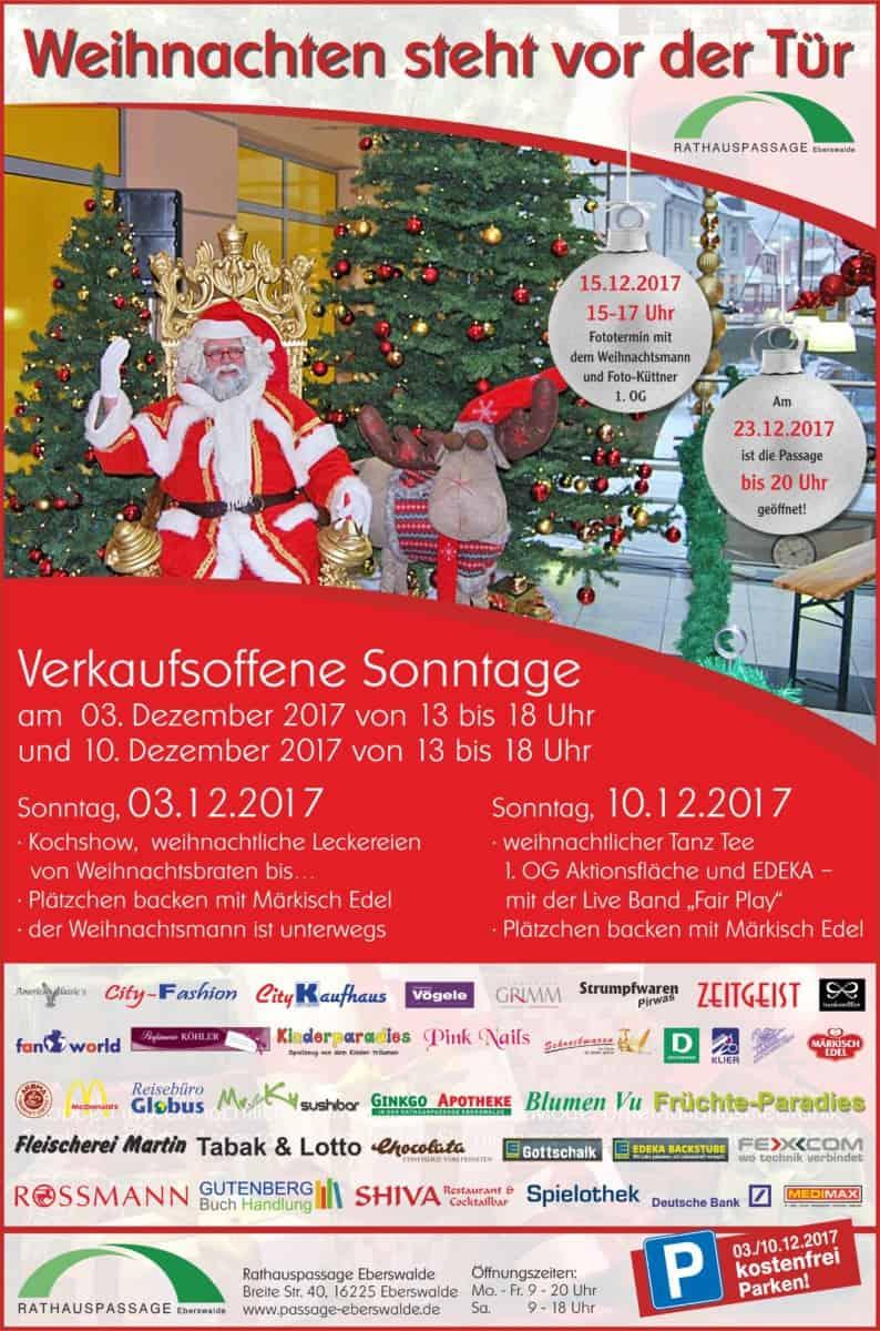 Rathauspassage Eberswalde Rathauspassage-Weihnachten_Verkaufsoffener-Sonntag_03_12_2017 Weihnachten in der Rathauspassage Aktuelles Veranstaltungen