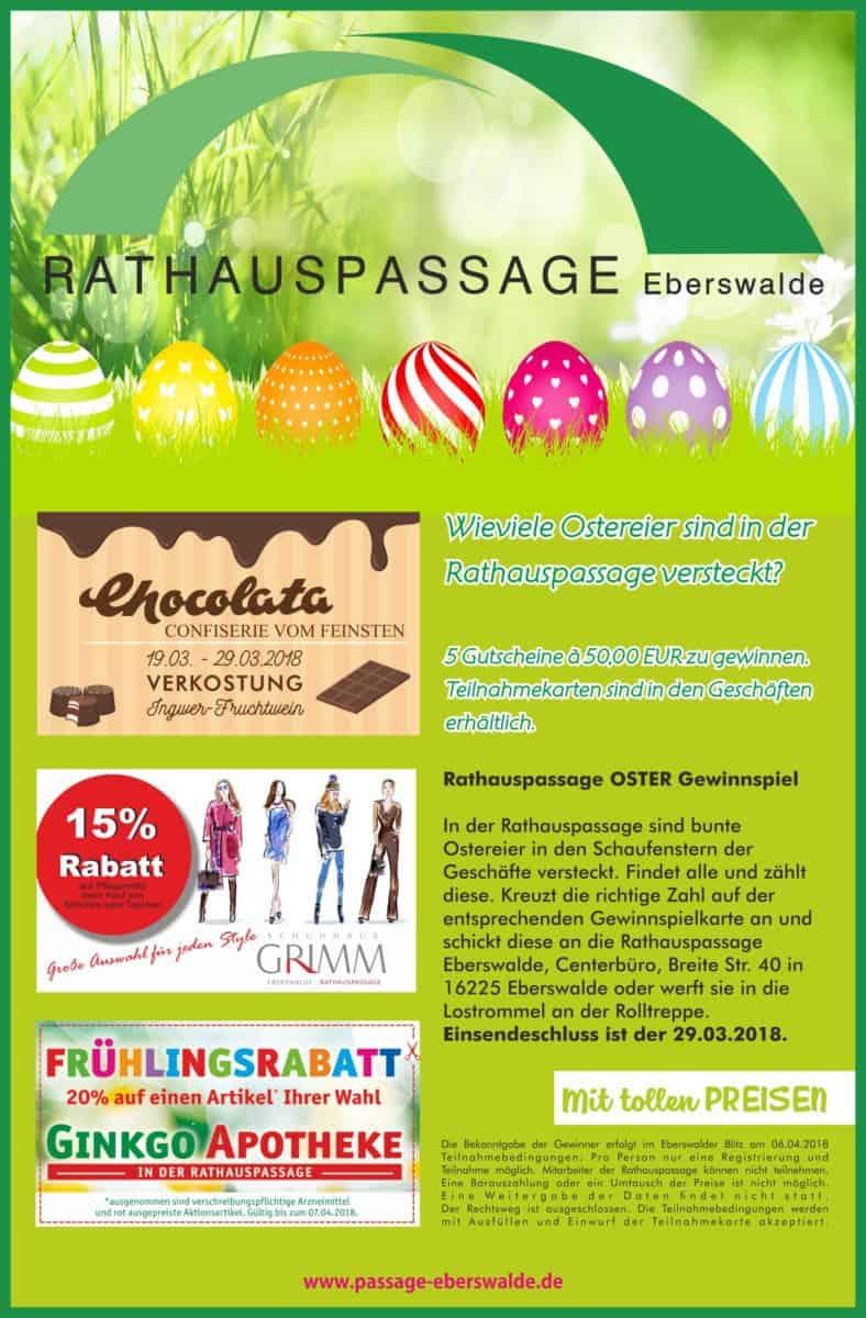 Rathauspassage Eberswalde Rathauspassage-Eberswalde-Osteranzeige Ostern in der Rathauspassage Eberswalde Aktuelles Veranstaltungen