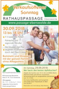 Herbstfest in der Rathauspassage am 30.09.2018