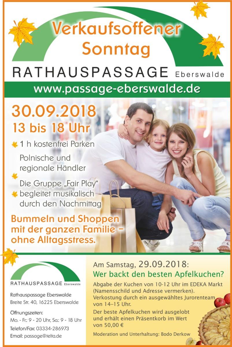 Rathauspassage Eberswalde 50176_Rathauspassage_26_09_2018 Herbstfest in der Rathauspassage am 30.09.2018 Aktuelles Veranstaltungen