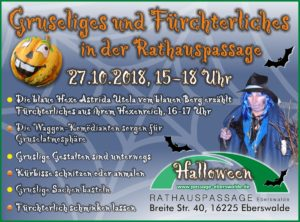 Halloween in der Rathauspassage Eberswalde