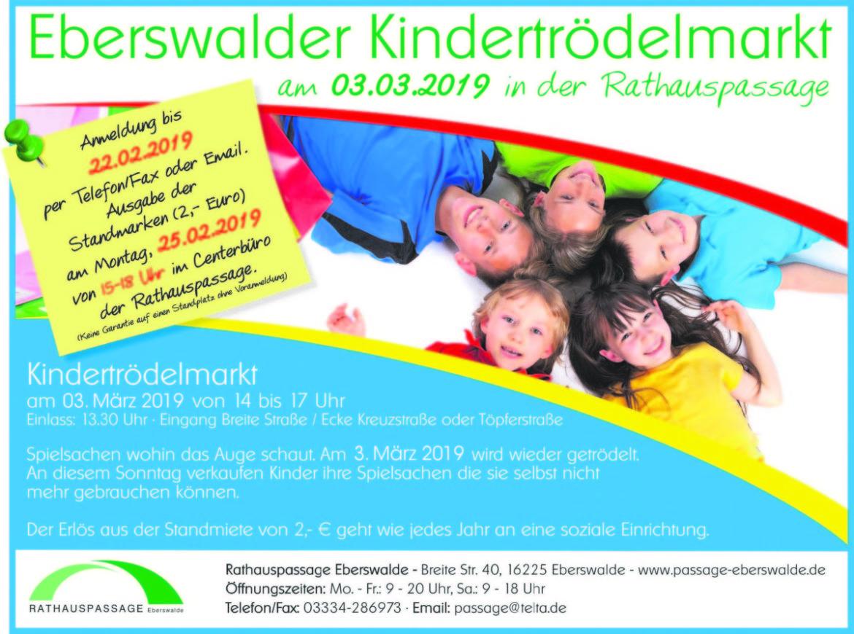 Rathauspassage Eberswalde RHP-Trödel-1170x870 Kindertrödelmarkt am 03.03.2019 in der Rathauspassage Aktuelles Veranstaltungen
