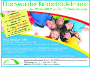 Kindertrödelmarkt am 03.03.2019 in der Rathauspassage