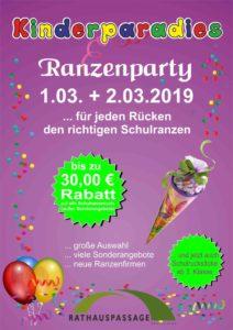 Rathauspassage Eberswalde Ranzenfete-212x300 Ranzenparty im Kinderparadies am 01.03. und 02.03.2019 Aktuelles Angebote & Aktionen Geschäfte