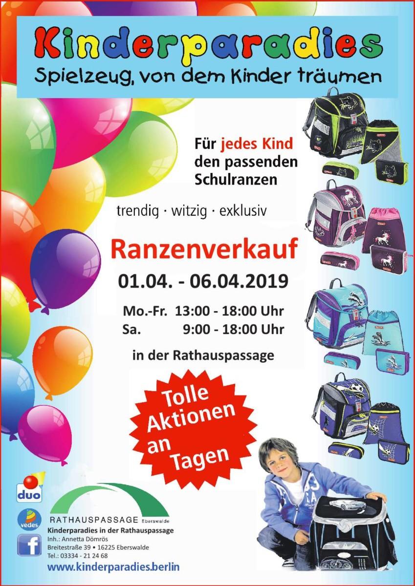 Rathauspassage Eberswalde Schulranzen-p1 Kinderparadies in der Rathauspassage Eberswalde Aktuelles Angebote & Aktionen