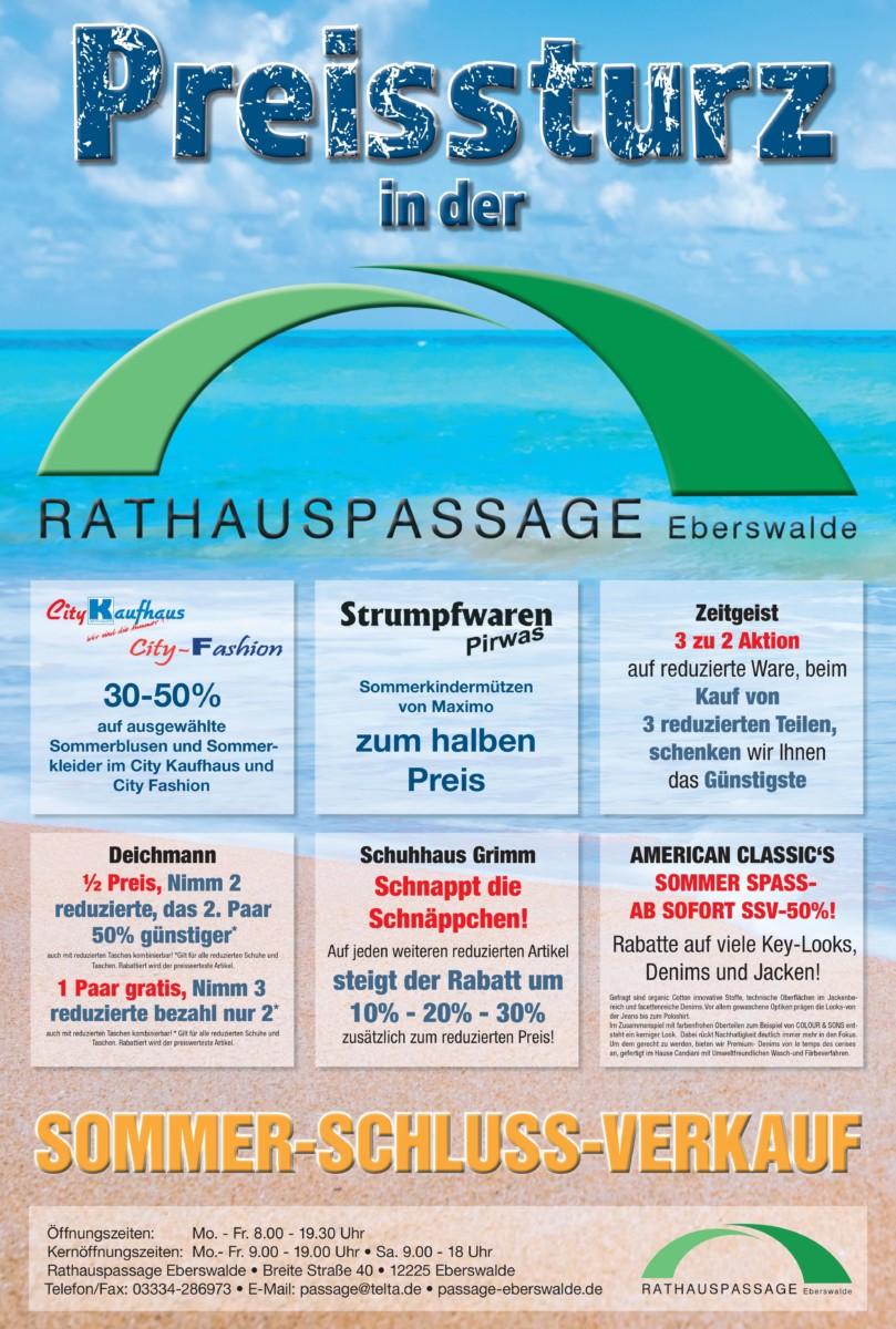 Rathauspassage Eberswalde 0001-2 Sommerschlussverkauf in der Rathauspassage Eberswalde Aktuelles Angebote & Aktionen
