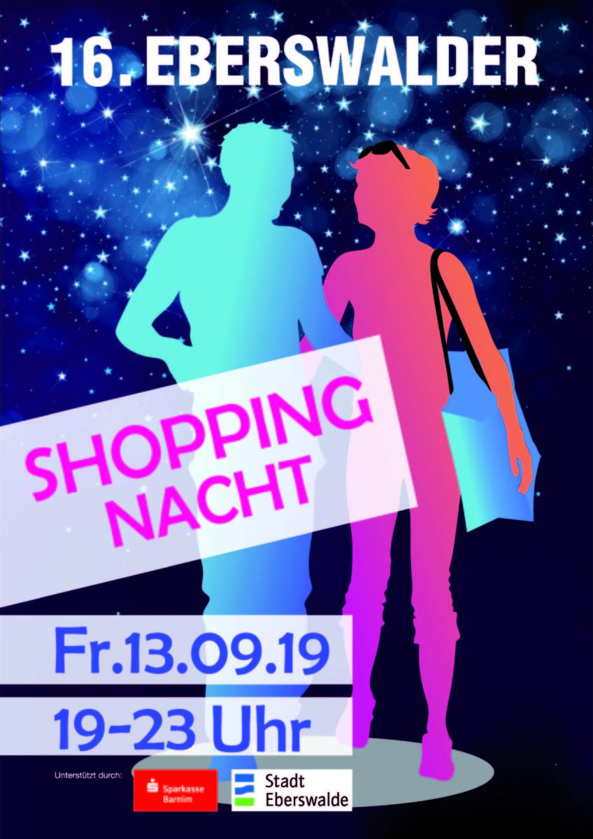 Rathauspassage Eberswalde Plakat-A3-Druck Lange Einkaufsnacht am 13.09.2019 in Eberswalde Veranstaltungen