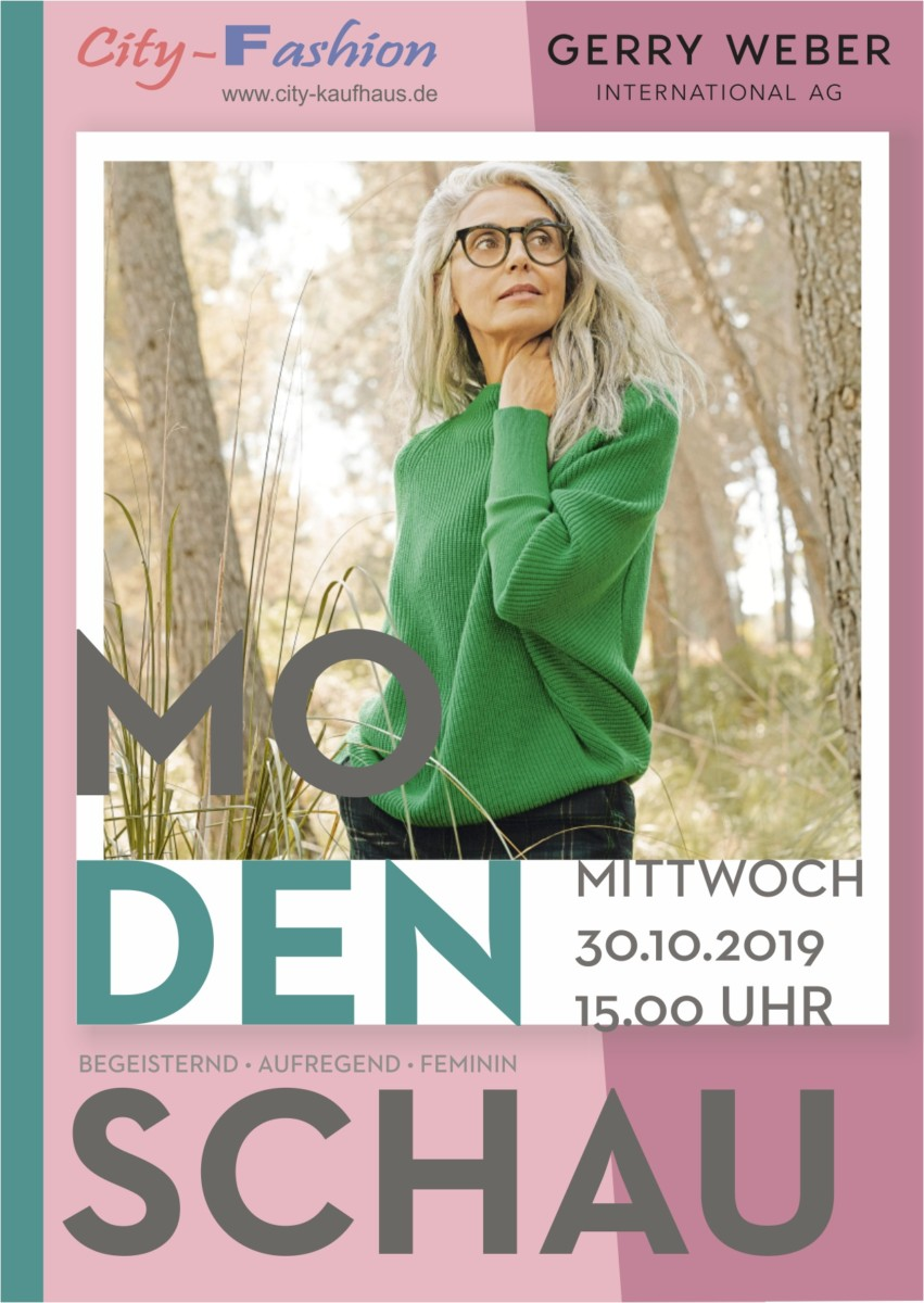 Rathauspassage Eberswalde Postkarte_CityFashion_Gerry-Weber-Modenschau_30_10_2019 Große Modenschau im Geschäft City Fashion Aktuelles Veranstaltungen