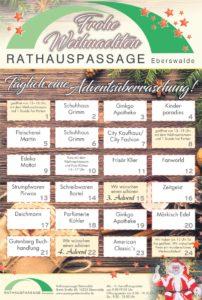 Adventskalender in der Rathauspassage Eberswalde