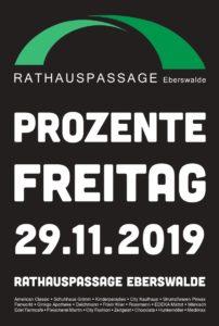 Prozente Freitag am 29.11.2019 in der Rathauspassage Eberswalde